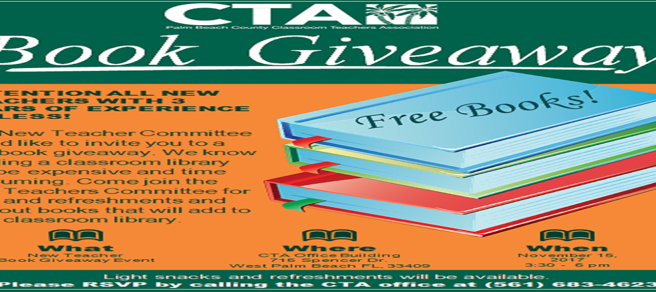 CTA Book Giveaway Event - November 15, 2017 (All Members Welcome!)