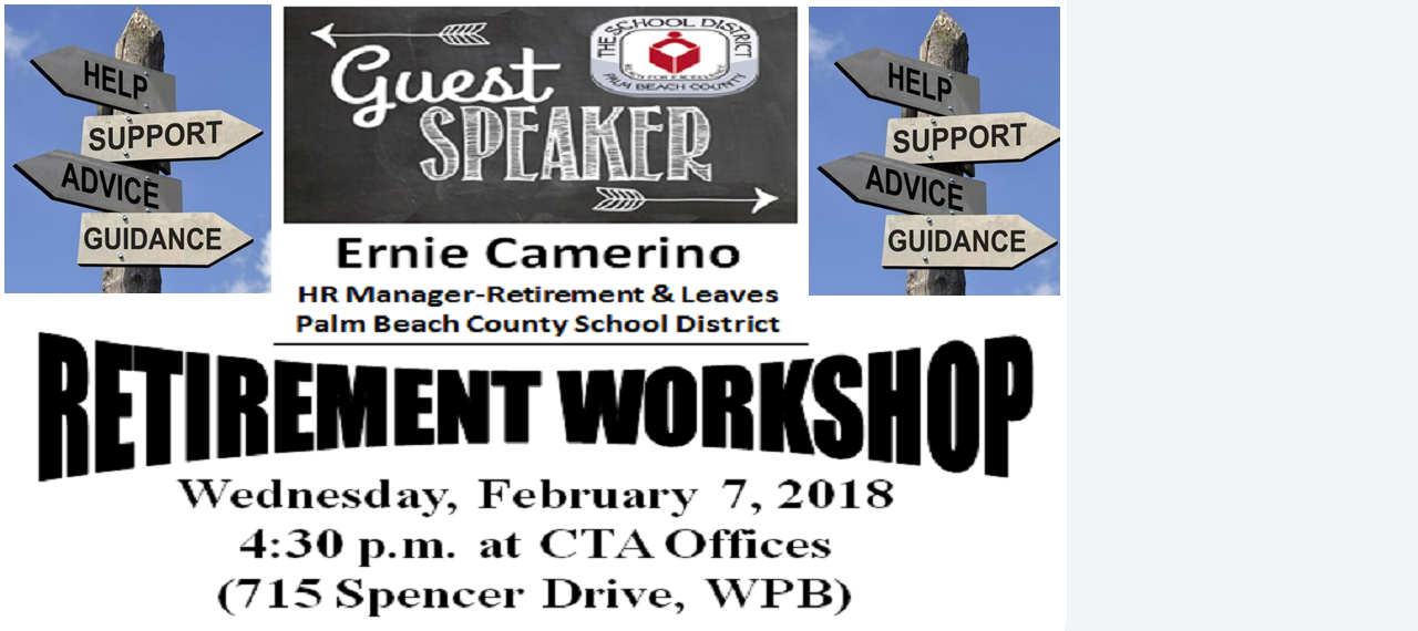 Retirement Workshop with Guest Speaker Ernie Camerino!